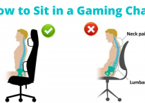 how to sit in a gaming chair